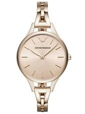 NEW EMPORIO ARMANI LADIES AR11055 ROSE GOLD AURORA WATCH, COA - 2Y WARRANTY,