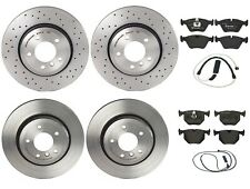 Brembo Brake Kit Front Drilled and Rear Disc Rotors Low-Met Pad For BMW E46 330i
