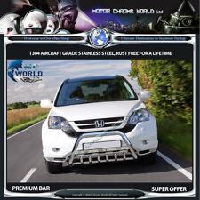 HONDA CR-V BULL BAR CHROME AXLE NUDGE A-BAR LOGO S.STEEL 2007-2011 SUPER OFFER