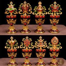"Tibet buddhism ""Eight Auspicious"" Vajra Dorje Dorje Phurba Energy Talisman #2899"