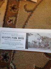 1969 Advert Glaston Park Hotel Uppingham