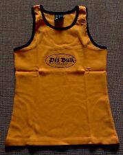 Pit Bull Germany Tank Top Shirt Orange Feinripp mit Pit Bull-Logo Gr. M Neu OVP