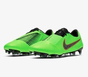 Nike ACC Phantom Elite FG Soccer Futbol Cleats, Mens Size 8, Green Black New