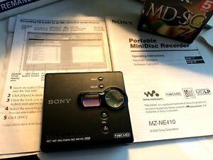 NET MD WALKMAN MZ-NE410 (MDLP) Portable MiniDisc Recorder - Refurbished - Mint