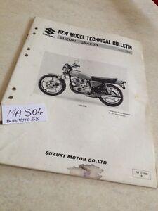 Suzuki GS425N GS425 GS 425 425GS Spefications Técnica Boletín Técnico éd.79