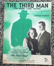 The Third Man (Harry Lime Theme) - Anton Karas: Piano Sheet Music 4 pages 1949