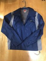 Vintage Nike Grey Tag 90s Windbreaker Jacket Hooded Black Blue White Sz L