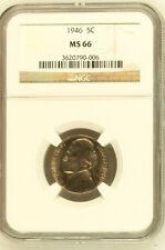 1946 Jefferson Nickel NGC MS 66