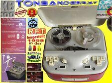 Tonbandgerät KB100 Magnettonband-Röhrengerät Monotonbandgerät Bandmaschine DDR
