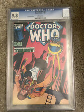 DOCTOR WHO #2 cgc 9.8 - Featuring The 4th Doctor - Marvel Comics 1984