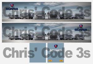 Code 3 Adhesive Vinyl Trailer Decals - Scania  - 1/50 1/64 1/76 1/87 1/148