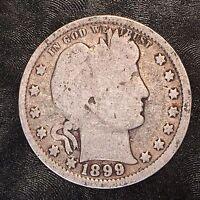 1899 Barber Quarter - High Quality Scans #D845