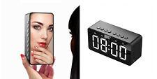 Sveglia specchio orologio da tavolo LCD cassa bluetooth aux usb portatile BT506