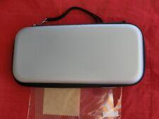 Schutzhülle Etui Tasche Case für Nintendo Switch in SILBER + Displayfolie