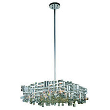 CRYSTAL CHANDELIER PICASSO MODERN KITCHEN DINING LIVING ROOM 6 LIGHT CHANDELIERS