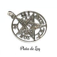 COLGANTE PLATA de LEY TETRAGRAMATON 2,5 cm+ 0,7cm y Estuche. Tetragrammaton
