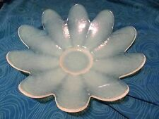 Yalos Casa MURANO Blue Yellow Green Iridesent Opalesent Leaf Petal Style Bowl
