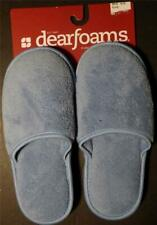 Slippers Dearfoams Relax Blue Small Size 5-6 Plush Womens Tag Washable New