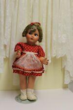 "Beautiful 19"" Vintage Italian Hard Plastic flirty eyed doll"