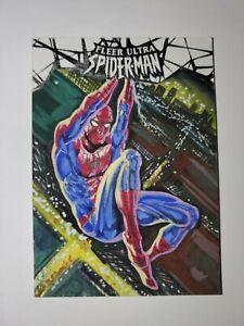 2017 Fleer Ultra Spider-Man Sketch Card Spider-Man by Jim Faustino