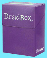 Ultra Pro DECK BOX PURPLE Card Holder NEW Standard Small Size Gaming Card Holder