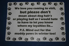 Paper/Carton Dog Signs & Plaques