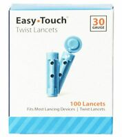 Easy Touch Twist Lancets 30 Gauge 100 Each (Pack of 2)