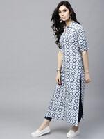 Details about  /Women indian kurta kurti Long Maxi Dress top tees bottom  tunic bollywood