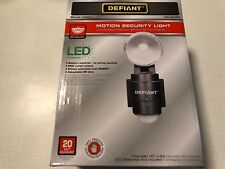 Defiant Security Flood Light Black LED Motion Sensing Battery Power Outdoor New