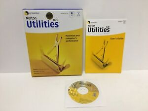 Norton Utilities 8.0 for Macintosh by Symantec with Manual and Box
