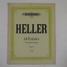 piano HELLER op.81 24 preludes , peters 4666
