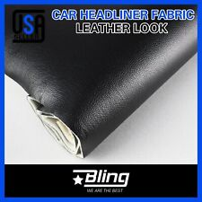 Black Headliner Vinyl Fabric Faux Leather Back Foam Upholstery Sagging Replace