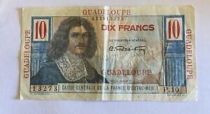 Billet 10 Francs Guadeloupe  Colbert