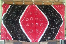Sarong Cotton Bandhini Indian Tie Dyed Scarf  Melon White Black New