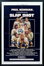 SLAP SHOT * CineMasterpieces 1SH ORIGINAL MOVIE POSTER 1977 HOCKEY FIGHTING