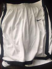 Nike Dri Fit White Basketball Shorts L
