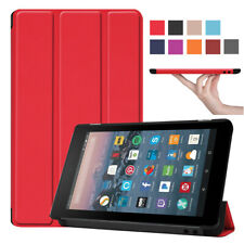 For Amazon Kindle Fire 7 2019 9th Generation Stand Magnetic Leather Slim Case