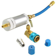 R134A R12 Auto Car A/C Oil & Dye Injector + Low Quick Coupler Adapter Injection