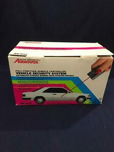 Vintage Auto Security By Audiovox Full Vehicle Security System AA-9247