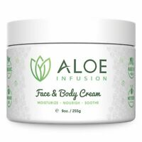 Aloe Infusion Face & Body Cream Moisturizer - Aloe Vera Gel Moisturizing Lotion