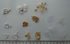 Paquete de selección mixto, Plata Y Oro Plateado & Espalda Plástico para Pendientes Perforados