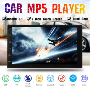 7'' Android 8.1 Double DIN 16GB Quad Core Car Stereo WIFI GPS Radio MP H
