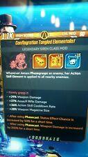 Borderlands 3 - (ps4) Elementalist +15 x skill rolls,(S.J Mods)lvl 60 Amara
