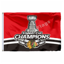 Chicago Blackhawks Stanley Cup Flag 3X5 FT NHL Banner Polyester FAST SHIPPING!!!