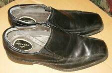 Dockers Men's Black Leather Dress Shoes Size 10.5M US VG-Shape,Used.