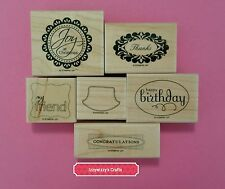 Stampin Up PERFECT PUNCHES oval curly label scallop circle tags tab modern (605)
