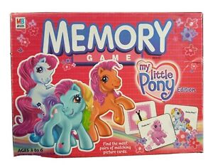 MEMORY GAME MY LITTLE PONY EDITION 2003 MILTON BRADLEY Complete G3 Ponys