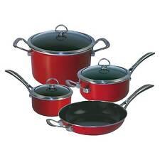 Chantal Copper Fusion 7-piece Cookware Set Chili Red