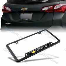 1PCS For CHEVY CHEVROLET Black Metal Stainless Steel License Plate Frame NEW