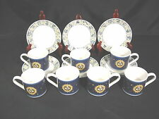 Tabletops Unlimited, Horoscope Zodiac 7 Cups and 8 Saucers Blue
